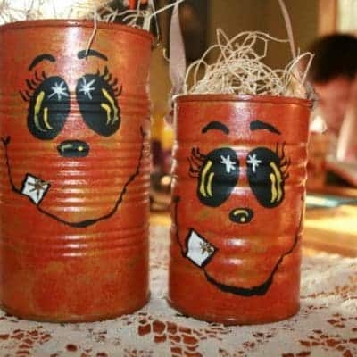 Upcycled Tin Can Halloween Craft