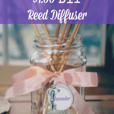 $1.00 DIY Reed Diffuser from cupcakesandcrinoline.com