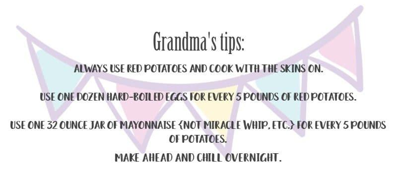 Grandma's Best Potato Salad Tips