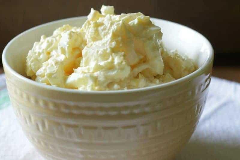 Grandma's Best Potato Salad in bowl