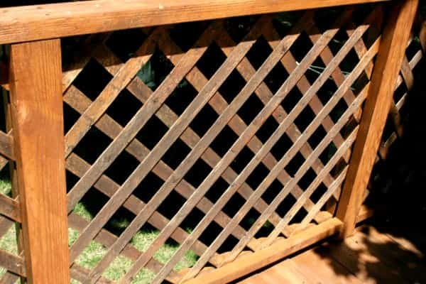 Staining lattice - Panel-after from cupcakesandcrinoline.com