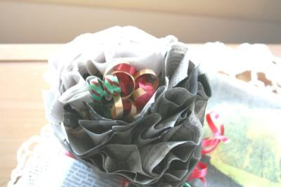 Gift Wrap & Topper {Recycled & Almost Free}