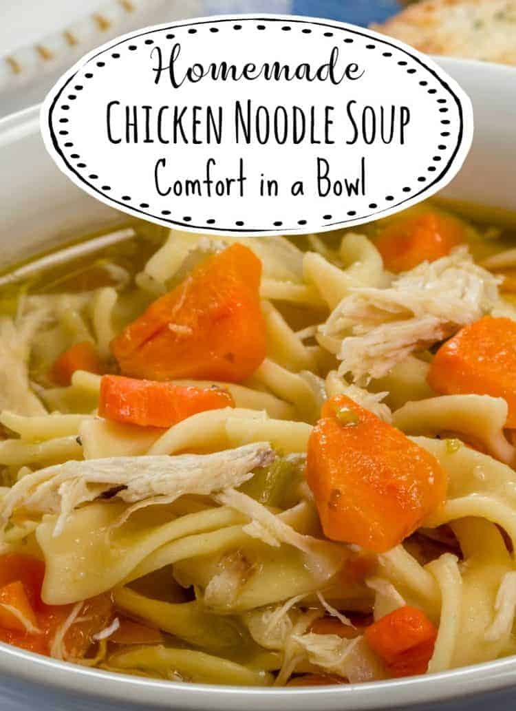 How to make homemade chicken noodle soup comfort in a for How to make homemade chicken noodle soup