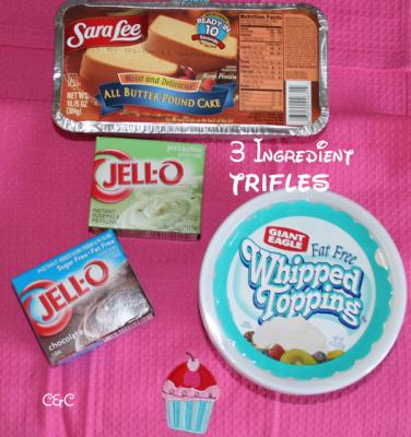Ingredients for homemade trifles