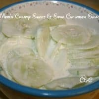 Mom's Creamy Sweet & Sour Cucumber Salad