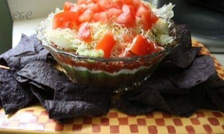 Easy to Make 7 Layer Bean Dip