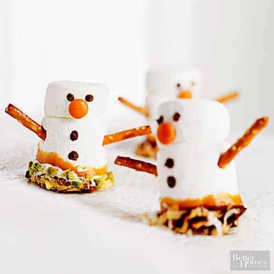 Cute Christmas Cookies - Marshmallow Snowmen
