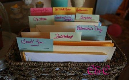 DIY Free Greeting Card Organizer