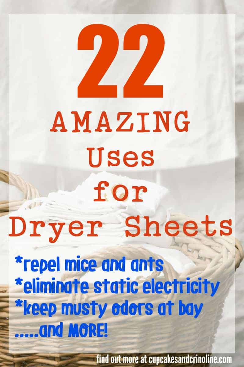 Vintage wicker laundry basket with fresh folded laundry - 22 amazing uses for Bounce Dryer Sheets