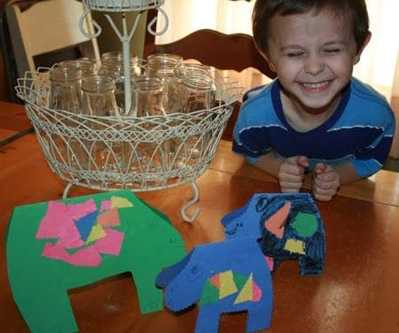 Easy Kid's Craft ~ 15 Minute Hippos
