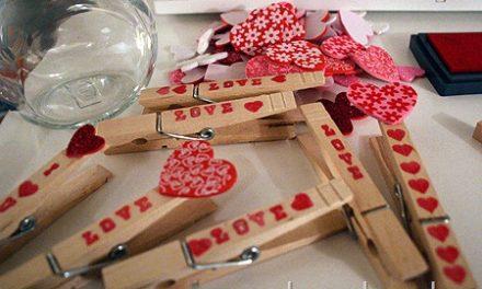 Valentine's Day Clothespins