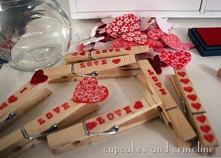 Valentine Clothespins