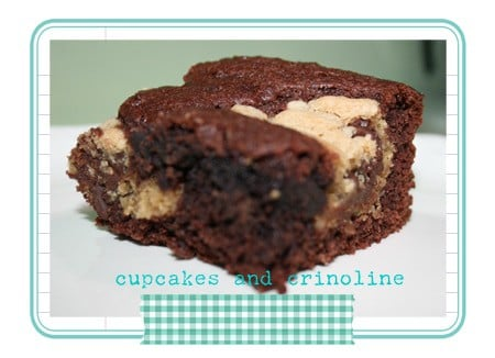 Cake Mix Brownies and Chocolate Chip Cookie Cake