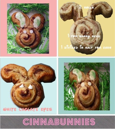 Collage of Cinnamon Roll Bunnies