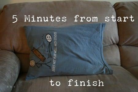 5-Minute T-Shirt Pillowcase