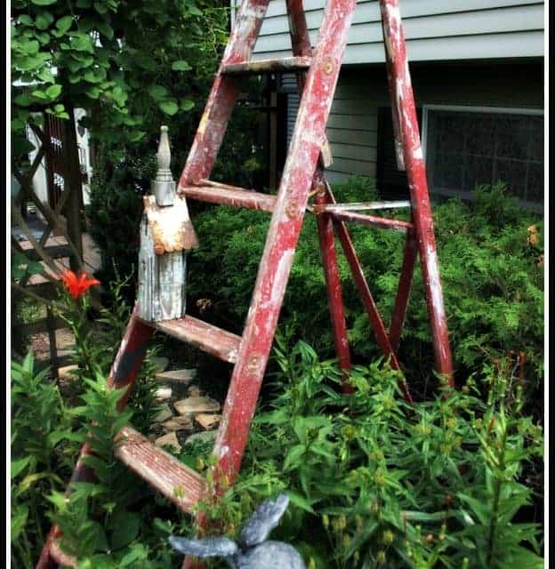 The Red Garden Ladder
