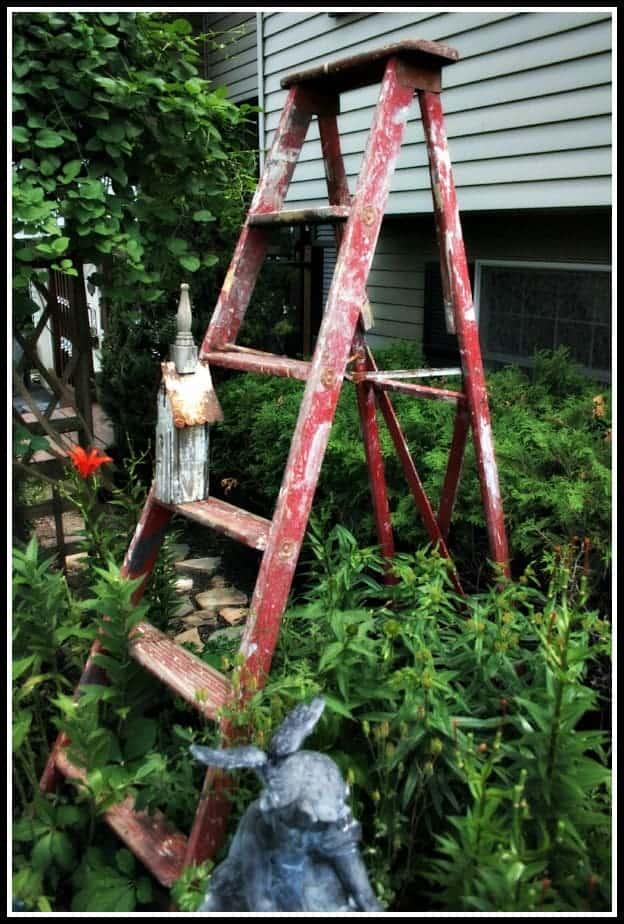 The Red Garden Ladder