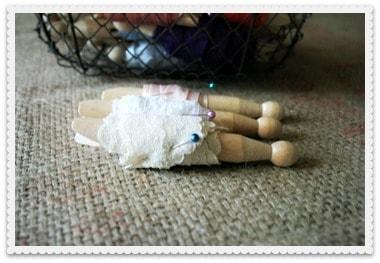 Displaying Ribbon Decoratively ~ Ribbon Wound Clothespins