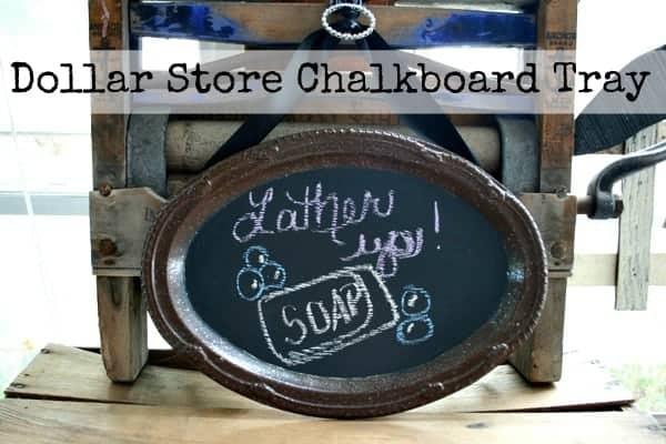 Dollar Store Chalkboard