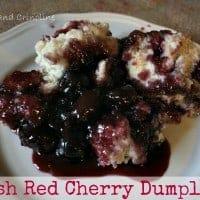Fresh Red Cherry Dumplings~~~Cupcakes and Crinoline