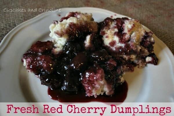 Fresh Cherry Dumplings