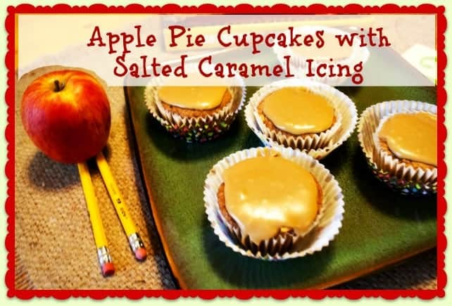 Apple Pie Cupcakes with Salted Caramel Icing