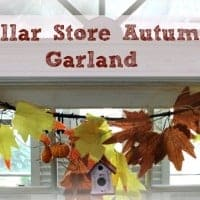 Dollar Store Autumn Garland