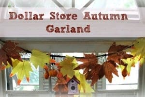Dollar Store Autumn Garland