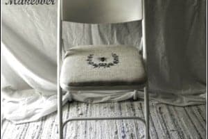 Folding Chair Makeover ~ Cupcakes and Crinoline
