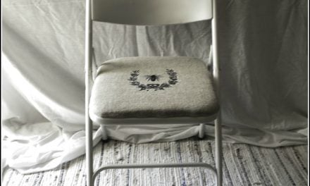 Folding Chair Makeover ~ Before and After