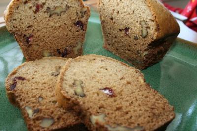 Cranberry Apple Walnut Bread