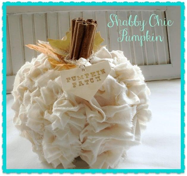 Shabby Chic Pumpkin @ Cupcakes and Crinoline