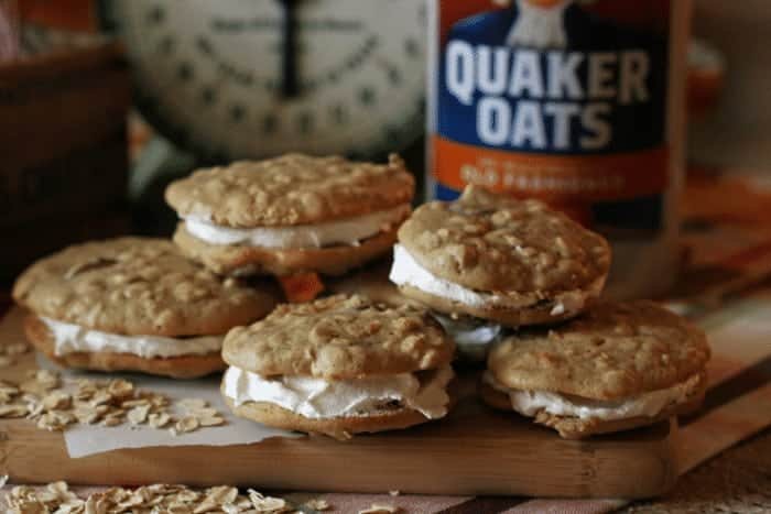Oatmeal and Raisin Whoopie Pies with Maple Cream Filling