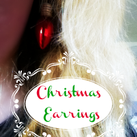 Christmas Earrings @Cupcakes and Crinoline