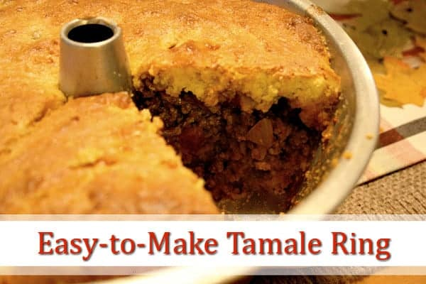 Easy-to-make Tamale Ring - a quick and easy dinner. www.cupcakesandcrinoline.com
