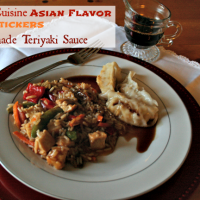 Lean Cuisine Asian Flavor, Potstickers, Homemade Teriyaki @Cupcakes and Crinoline