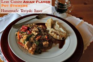 Lean Cuisine Asian Flavor, Potstickers, Homemade Teriyaki @Cupcakes and Crinoline