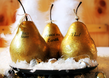 Gilded Pears #MerryModPodge @Cupcakes and Crinoline