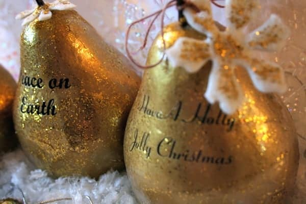 How-to Make DIY Faux Gilded Pears
