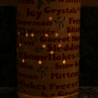Recycled Orange Juice Can Luminary @Cupcakes and Crinoline2