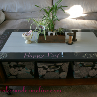 Chalkboard Coffee Table @cupcakesandcrinoline.com