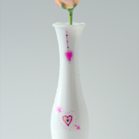 Valentine's Day Sharpie Marker Vase @Cupcakes and Crinoline