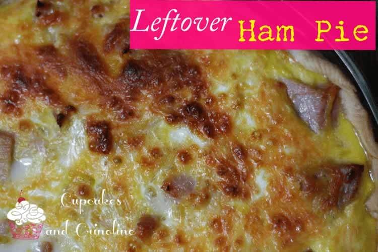 5 ingredient leftover ham quiche