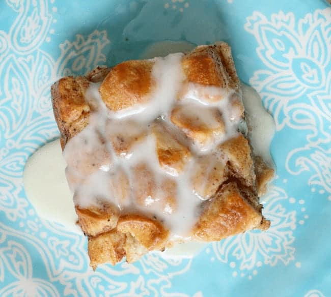 Easy-to-make Cinnamon Roll French Toast Casserole with glaze