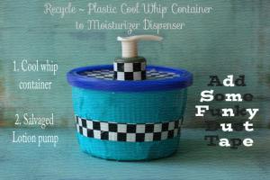 DIY Lotion Dispenser with Pump @cupcakesandcrinoline