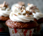 Chocolate Toffee Cupcakes with Toffee Buttercream Frosting