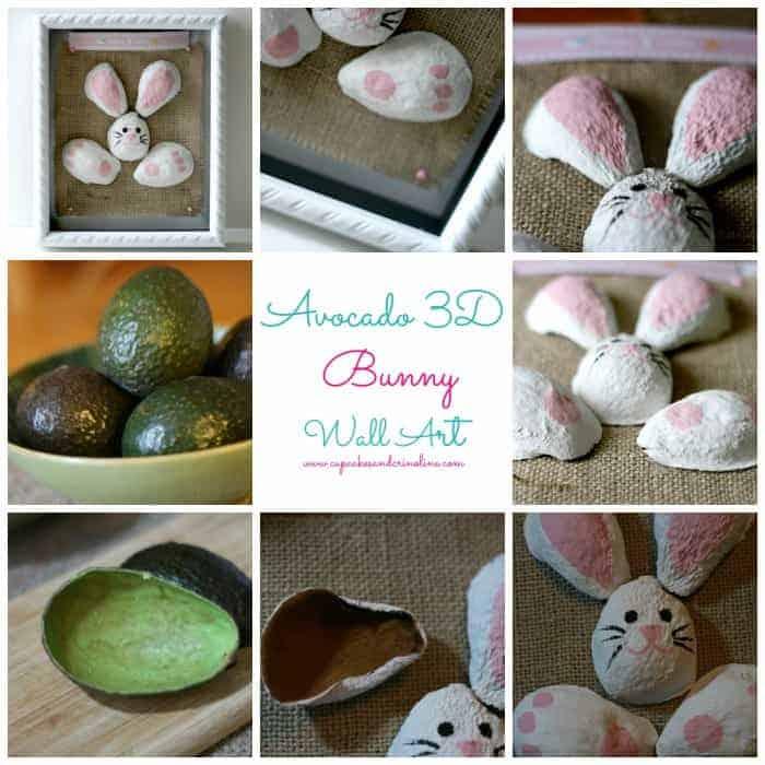 Art made from avocado skins