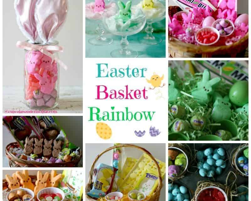 Mason Jar Easter Basket, Cotton Candy Peeps and an Easter Basket Rainbow
