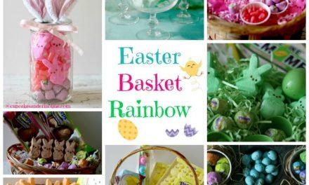 Mason Jar Easter Basket, Cotton Candy Peeps and an Easter Basket Rainbow