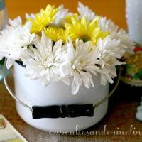 Easy Spring Decor @cupcakesandcrinoline.com